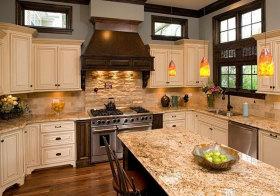 美式复古岛型厨房欣赏