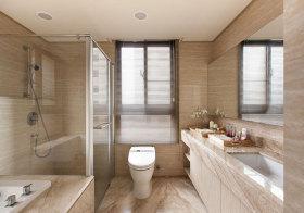 现代米色瓷砖卫生间效果图