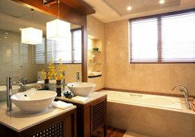 新中式古典卫生间实景