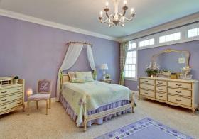 美式梦幻紫公主房欣赏