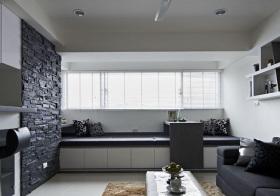 现代黑白灰飘窗欣赏