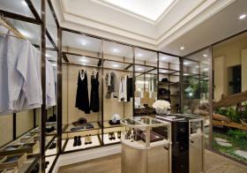 美式玻璃衣帽间设计