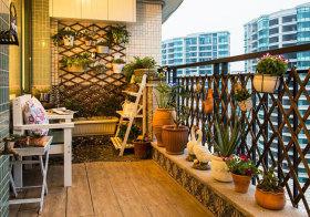 东南亚盆栽阳台实景拍摄