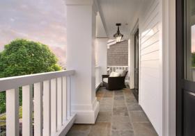 美式栏杆阳台效果图