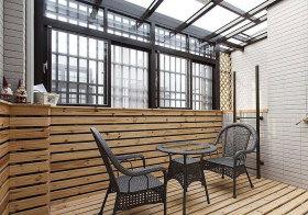 宜家木质小阳台美图