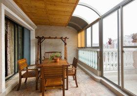 简约原木阳台设计欣赏