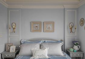 美式可爱卧室背景墙美图