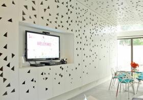 现代镂空创意电视背景墙设计