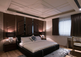 美式软包卧室背景墙欣赏