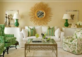 东南亚工艺品沙发背景墙美图
