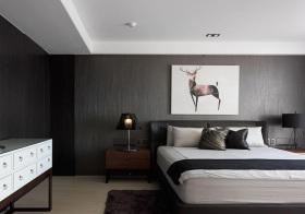 现代磨砂卧室背景墙美图