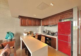 混搭木质厨房实景拍摄