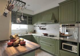 美式清新绿厨房美图