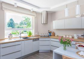 现代暖意花朵厨房欣赏
