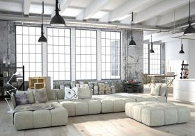 轻工业开放布艺客厅设计