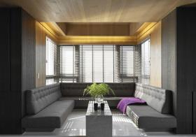 简约弧形客厅设计