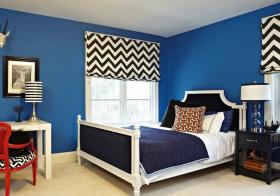 美式蓝色男孩儿童房欣赏