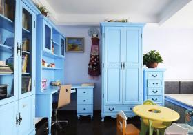 简欧蓝色家具儿童房欣赏