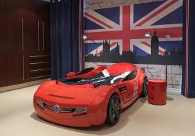 美式汽车造型儿童房鉴赏