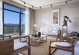 中式复古藤椅客厅欣赏