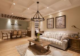 美式森系素色客厅美图