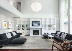 混搭挑高客厅设计