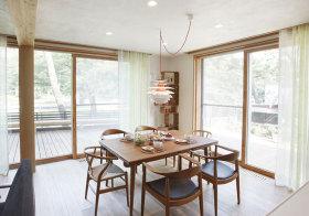 新中式原木餐厅设计
