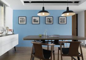 宜家简约蓝色餐厅美图