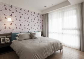 宜家蝴蝶素色卧室欣赏