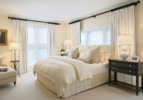 美式布艺床品卧室欣赏