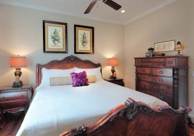 美式传统卧室实景细节