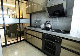 现代整体橱柜厨房实景