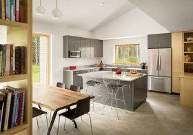 美式现代简单厨房实景