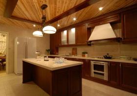 新中式岛型厨房实景