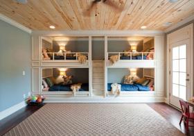 美式四床造型儿童房美图