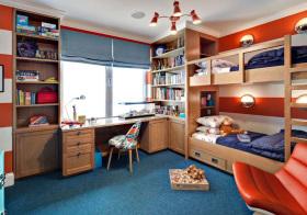 美式木质儿童房设计