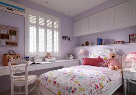 美式粉嫩儿童房实景