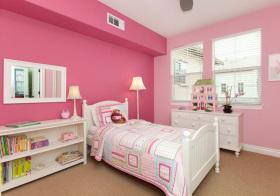 简欧粉色儿童房设计