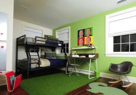 美式绿色儿童房欣赏