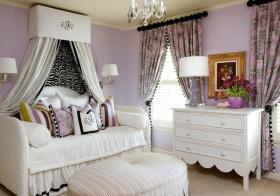 美式粉紫儿童房设计