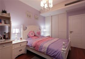 简欧粉紫儿童房实景