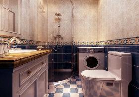 地中海瓷砖卫生间实景