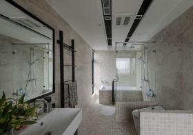 轻工业纯白卫生间设计