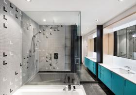 现代玻璃卫生间设计