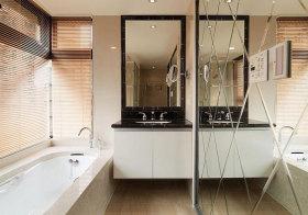 现代玻璃镜子卫生间设计