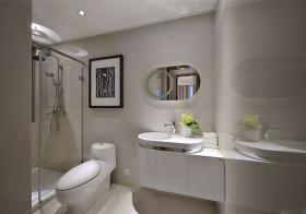 现代圆弧卫生间设计
