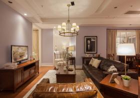 美式复古客厅实拍