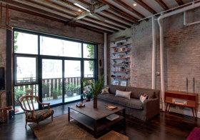 轻工业砖头客厅设计