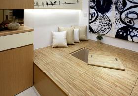 现代木地板榻榻米细节