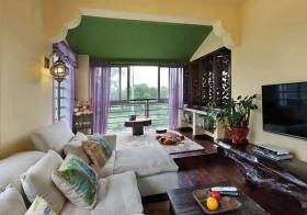 东南亚客厅榻榻米设计